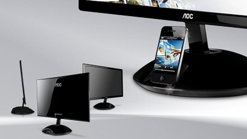 Монитор AOC с док-станцией для iPhone поступил в продажу