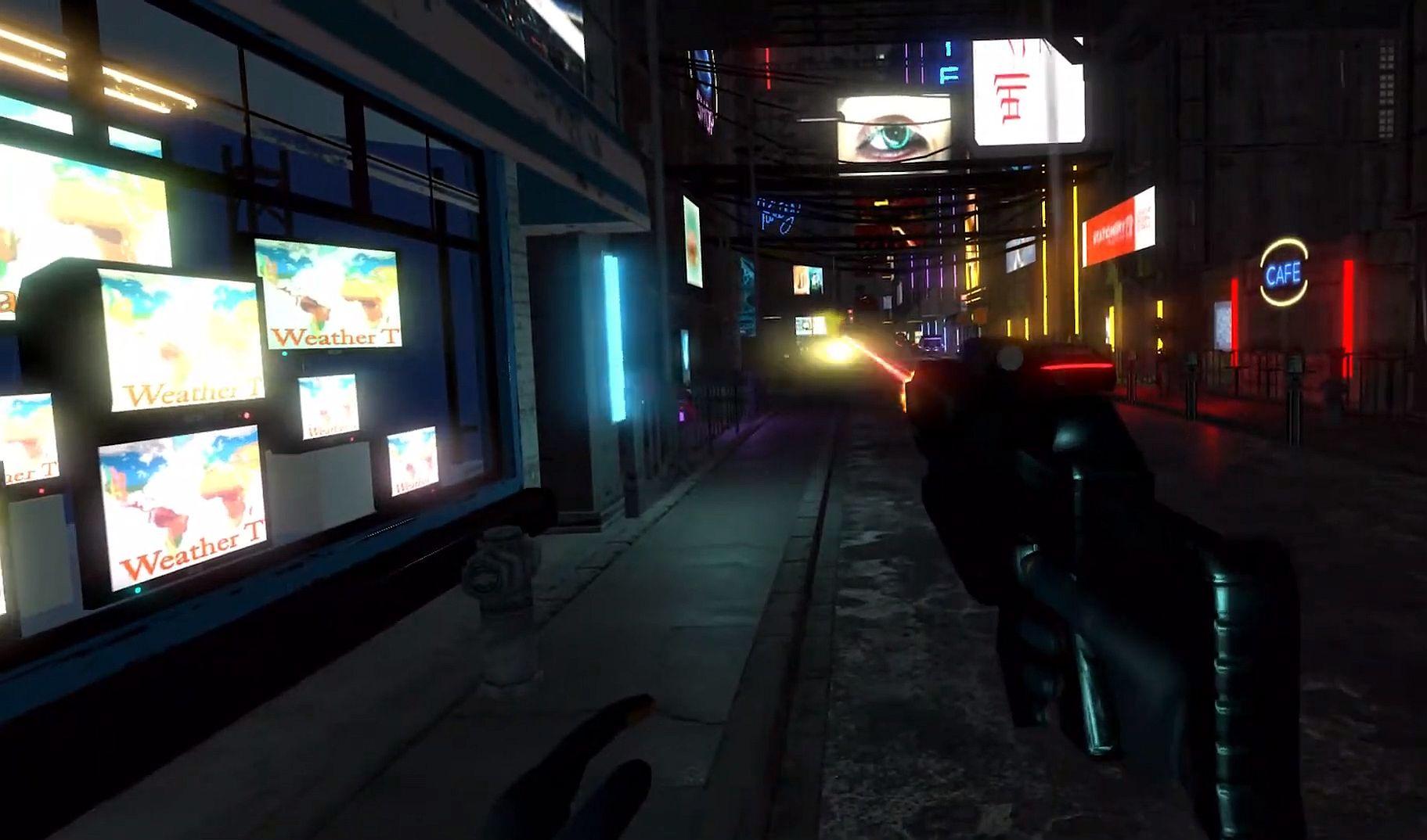 Автор VeloCity собирает деньги на киберпанковый шутер Distortion VR