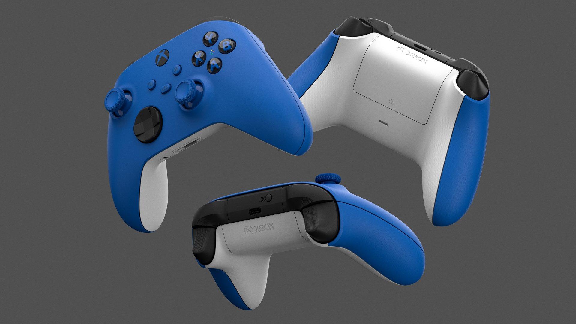 Microsoft показала новый сине-белый контроллер для Xbox One и Series X/S