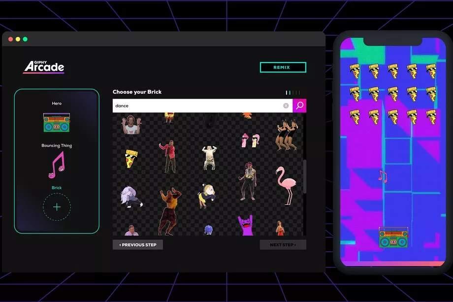 Giphy Arcade позволяет создавать мини-игры и делиться ими