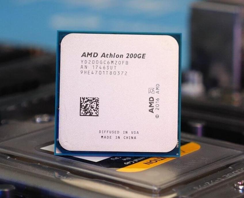 Бюджетный «гибрид» Athlon 200GE удалось разогнать до3,9 ГГц