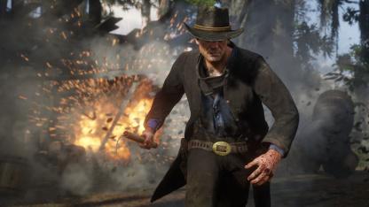 Субботний кинозал: взрыв 200 шашек динамита в Red Dead Online