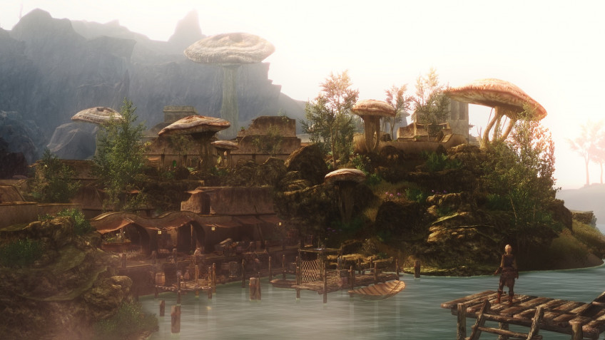 Skyrim+Morrowind: Авторы Skywind показали битву в Нчурдамце
