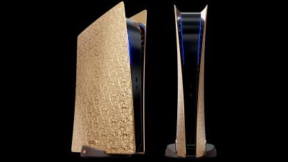 Выпущена «золотая» PS5 на подставке из чёрного дерева — стоит25 млн рублей