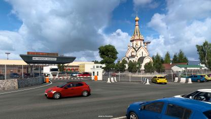 На новых скриншотах DLC для Euro Truck Simulator2 показали российские церкви