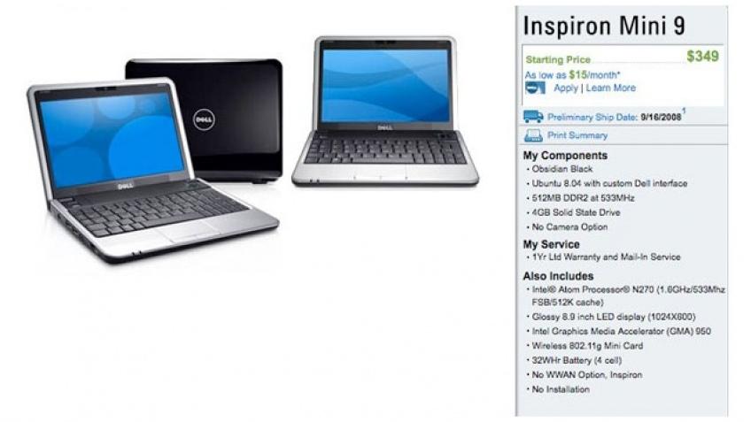 Dell Inspiron Mini9, почти официально