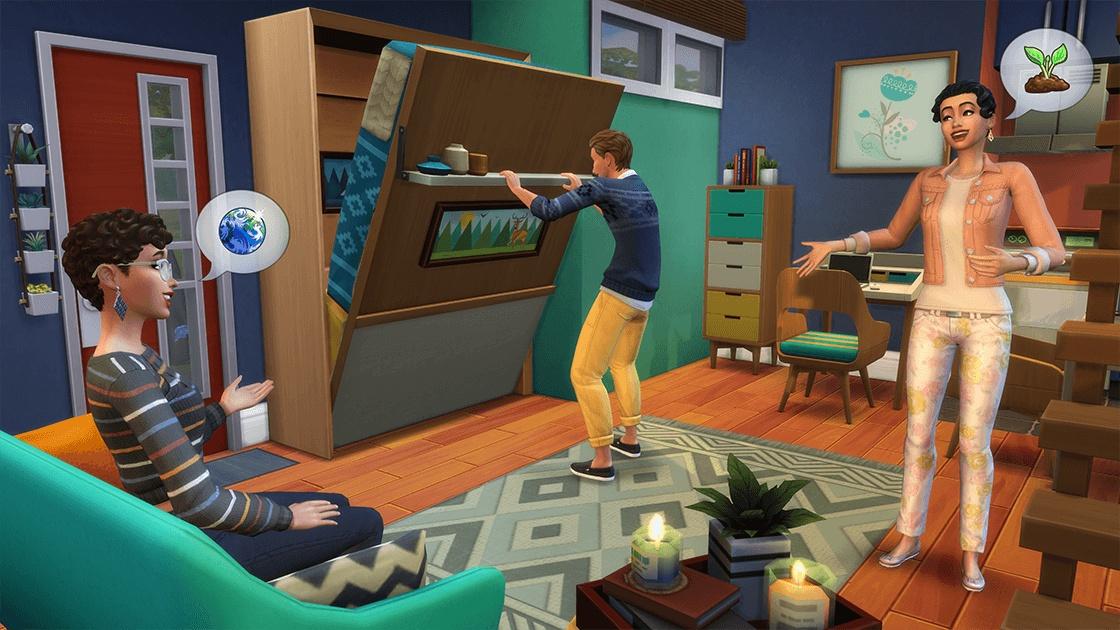 Каталог «The Sims 4: Компактная жизнь» добавит крошечные дома и складные кровати