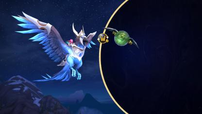 За подписку World of Warcraft дарят Сапфирового огнесвета и беса в шаре