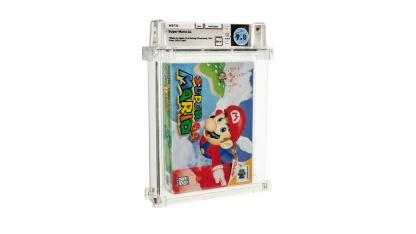 Запечатанную копию Super Mario64 продали за рекордные1,5 млн долларов