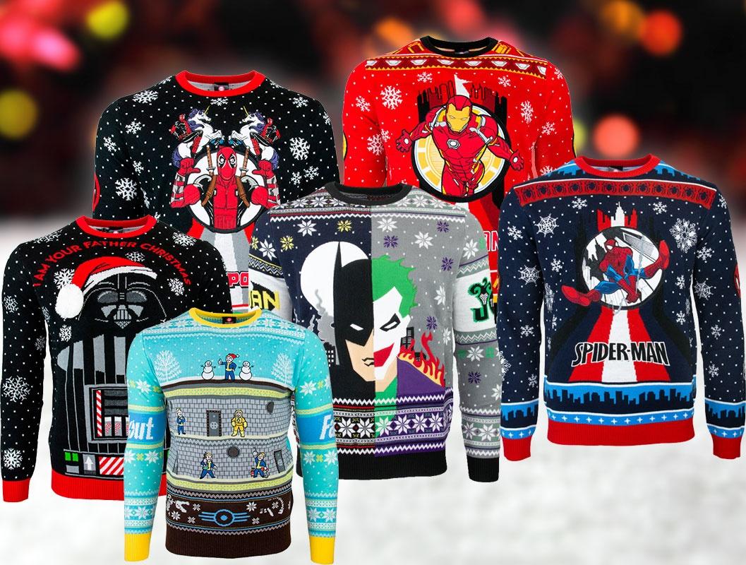 Забудьте про оленей: Numskull выпускает рождественские гик-свитера с Дэдпулом и Железным человеком