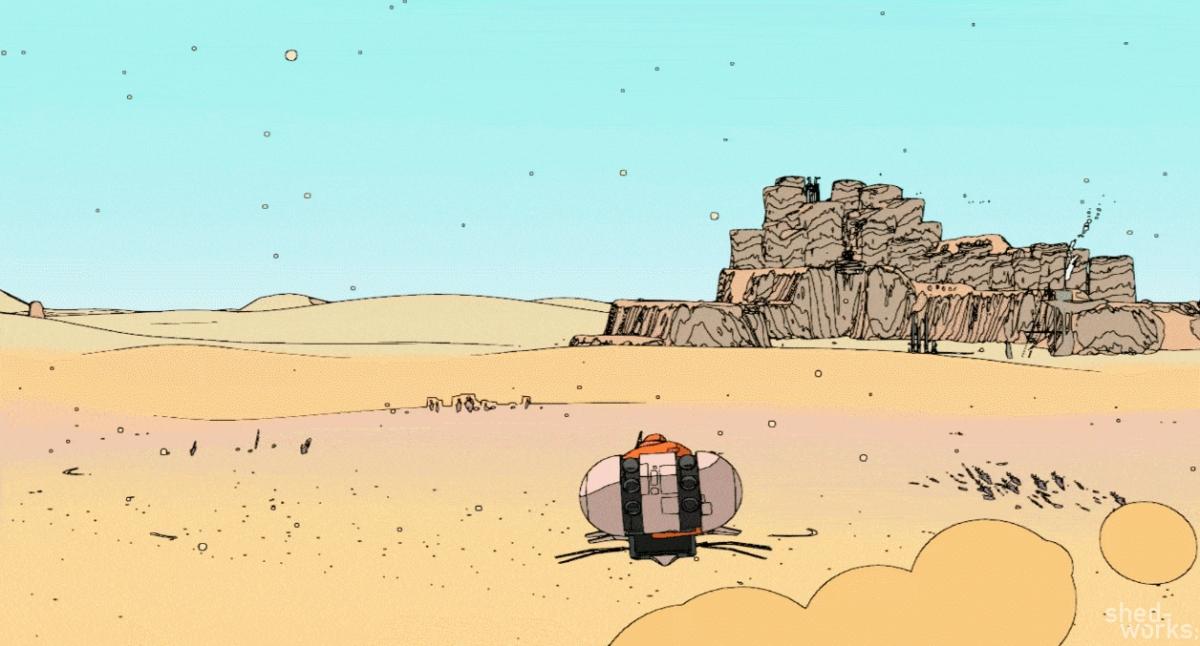 Project Sable: на летающем мотоцикле через пустыню
