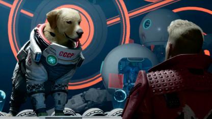 Команда «Стражей Галактики» спорит с псом-телепатом Космо в новом видео