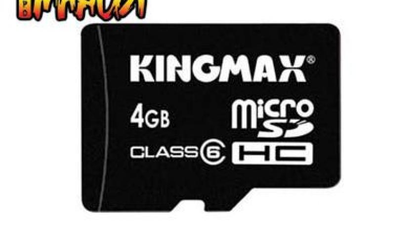 Kingmax представила первую 4-Гбайт карту памяти microSDHC