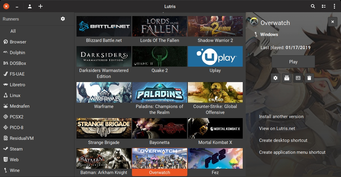 Lutris упростит запуск игр под Linux