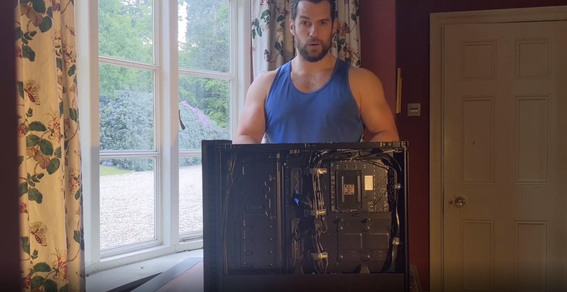 Генри Кавилл лично собрал свой новый компьютер с RTX 2080 Ti