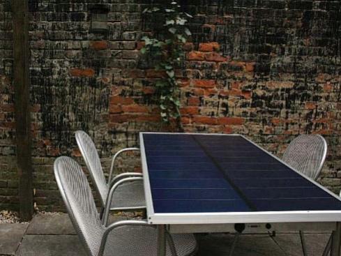 Стол на солнечных батареях