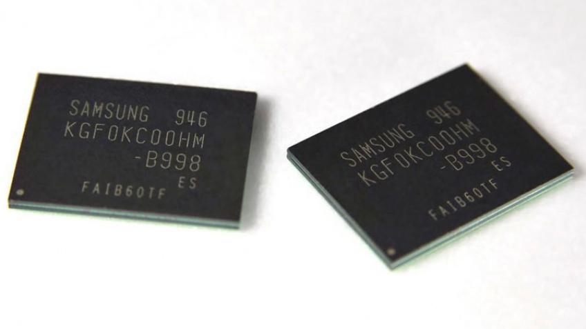 64-гигабайтные чипы памяти NAND
