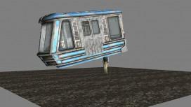 В Fallout3 герой ездил в метро с вагоном вместо руки