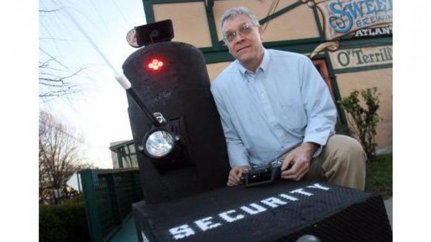 Робот на защите бара
