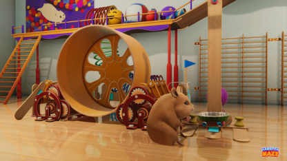 В Hamster Maze нам предстоит заниматься воспитанием хомячков