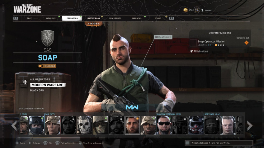 Соупа наконец добавили в Call of Duty: Warzone и Modern Warfare2