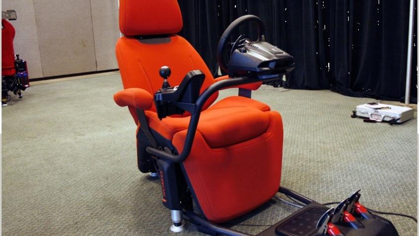 Игровое кресло с обратной отдачей