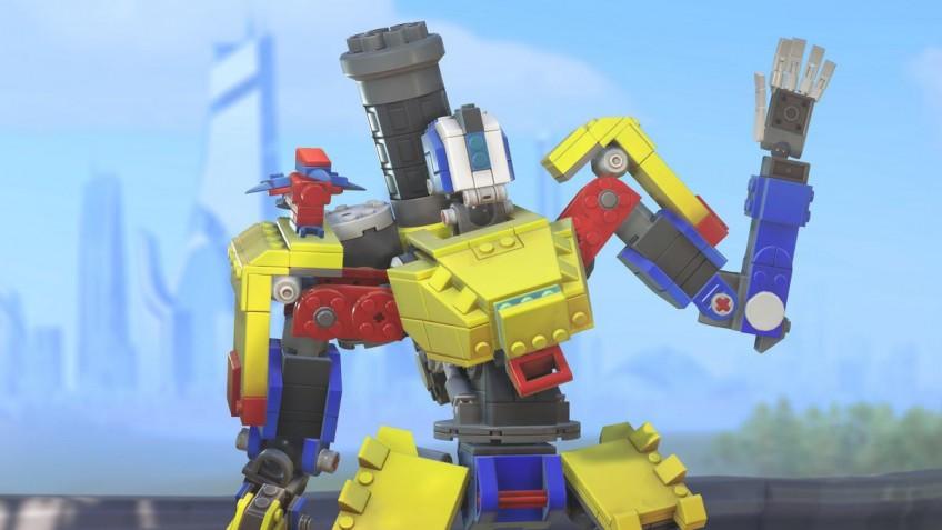 До 30 сентября в Overwatch можно получить LEGO-скин для Бастиона