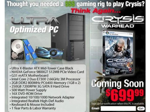 Компьютер для Crysis