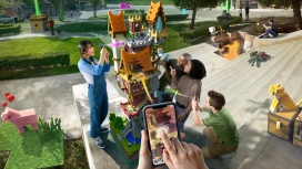 На конференции Microsoft Inspireпоказали возможности Minecraft Earth