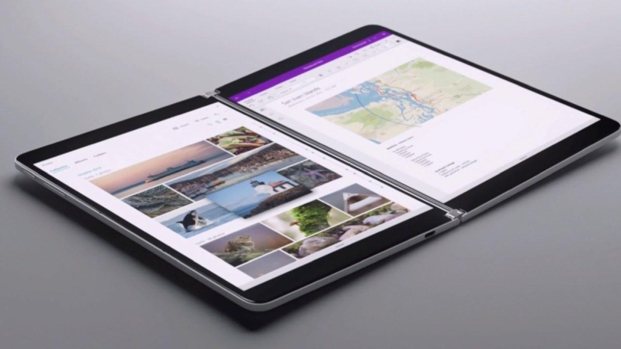Microsoft представила складной планшет с двумя экранами и такой же смартфон