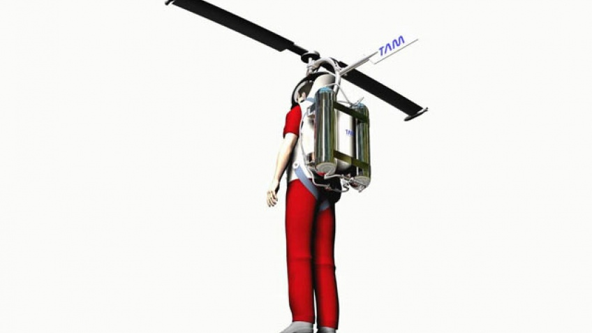 Персональный вертолет за спиной