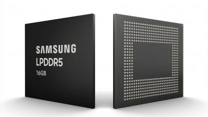 Samsung начала выпуск модулей памяти LPDDR5 ёмкостью16 ГБ