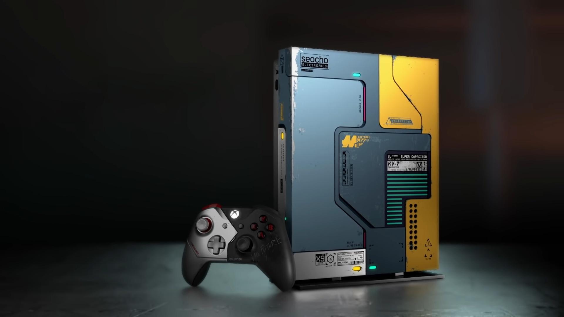 Лимитированная Xbox One X в стиле Cyberpunk 2077 уже поступила в продажу
