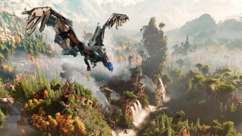 В новом трейлере Horizon: Zero Dawn показали охоту на стальных монстров
