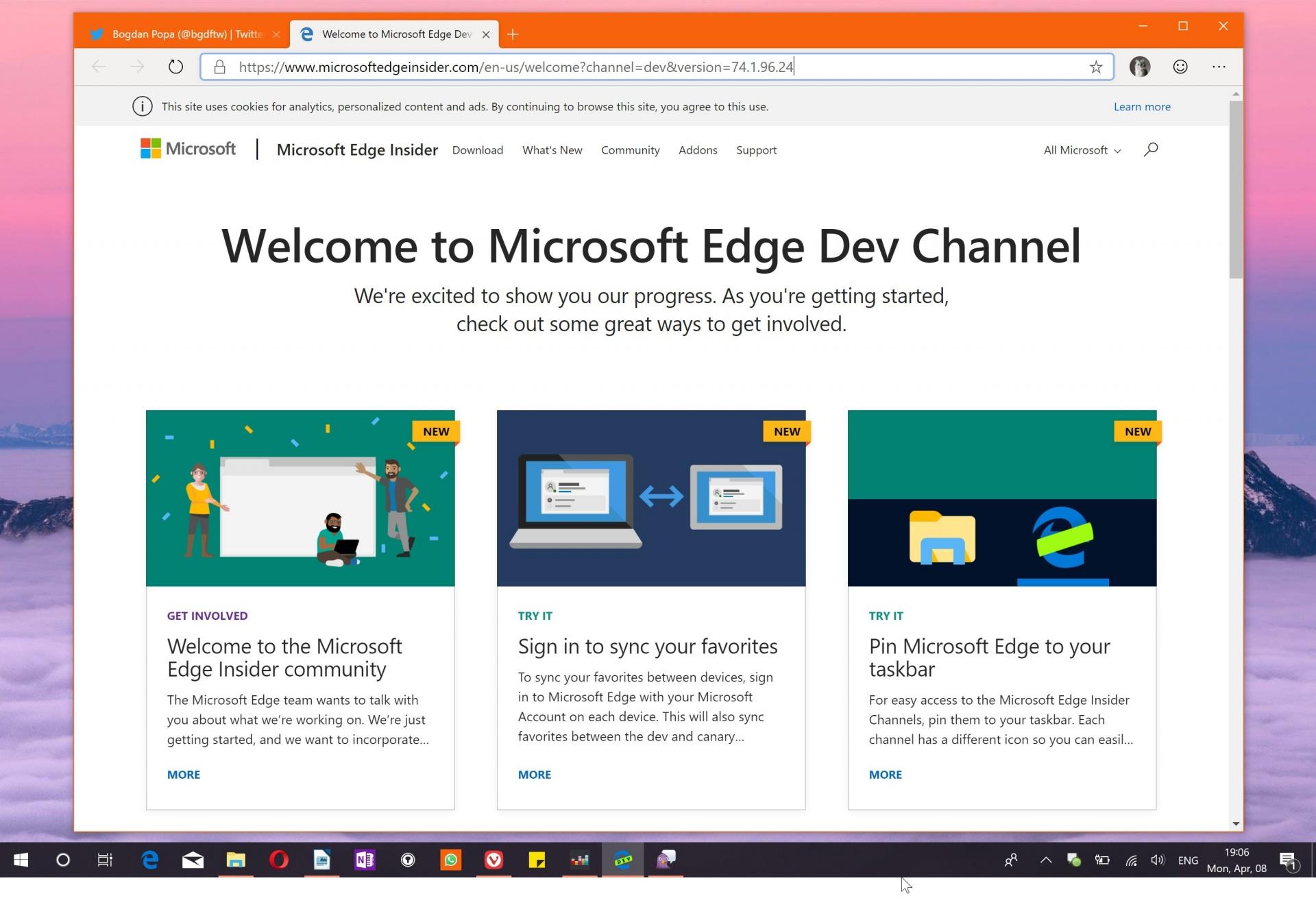 Новый Microsoft Edge научился читать веб-страницы вслух