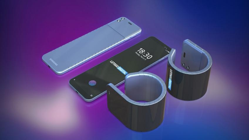 Так может выглядеть один из будущих гибких смартфонов Samsung