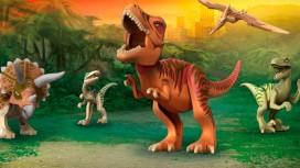 Люди убегают от игрушечных динозавров в первом трейлере LEGO Jurassic World
