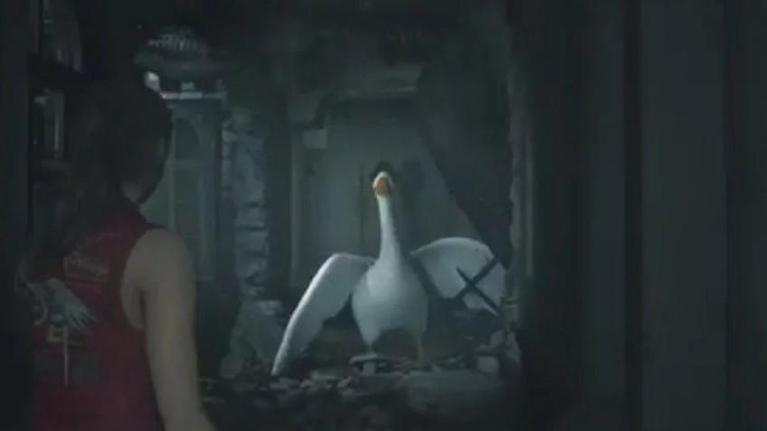 Моддер заменит Мистера Икс в ремейке Resident Evil2 на гуся из Untitled Goose Game