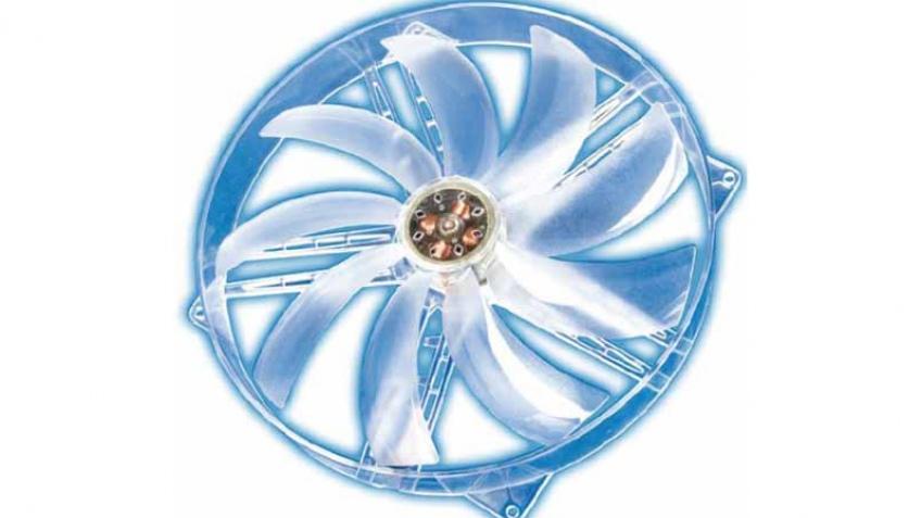 Корпусной вентилятор с большими лопастями