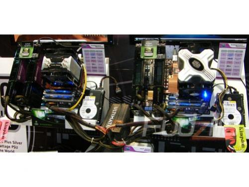 Computex 2008: две Quad-SLI системы на одном блоке питания