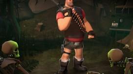 Пулеметчика из Team Fortress2 одели в короткие шортики