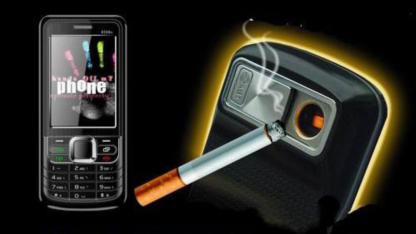 Телефон с прикуривателем для сигарет