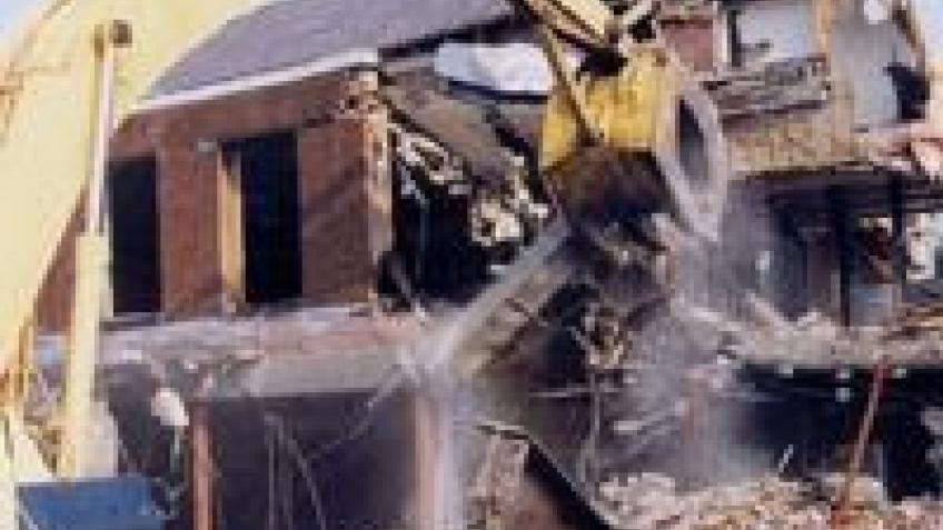 GPS уничтожила неправильный дом