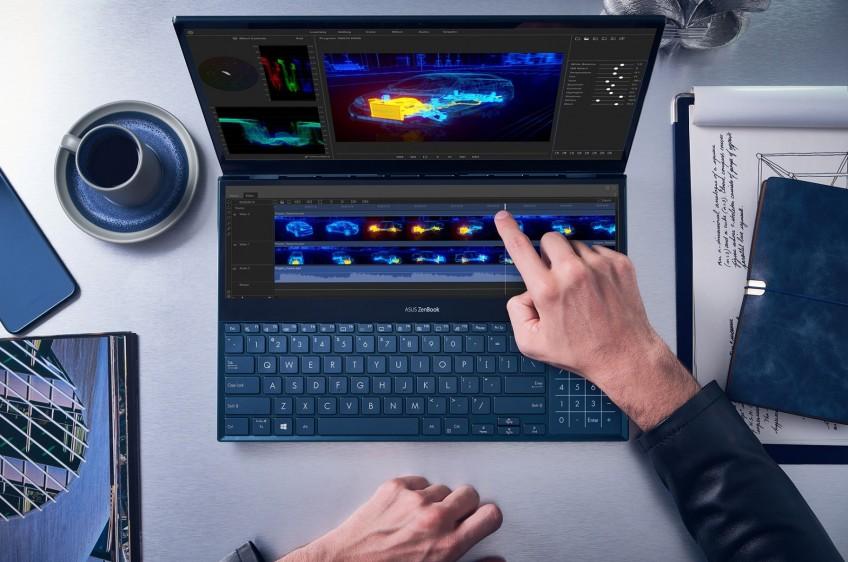 1-ый вмире. ASUS представила ноутбук с 2-мя сенсорными экранами