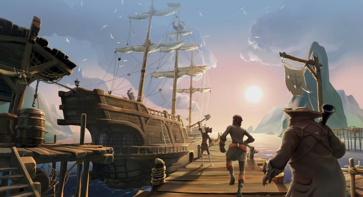 Как выглядела Sea of Thieves на первых порах? LEGO-корабли и сосиски вместо пиратов