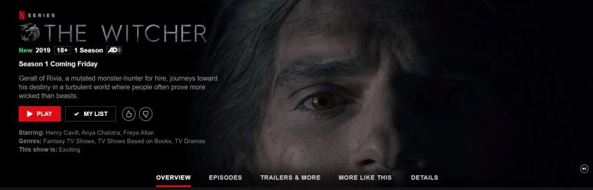 На Netflix состоялась премьера первого сезона «Ведьмака»