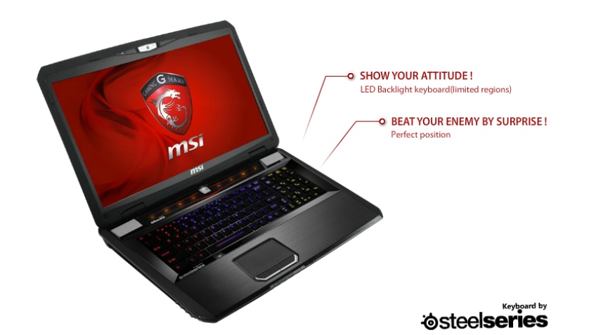 Компания MSI представила новый игровой ноутбук — GT783