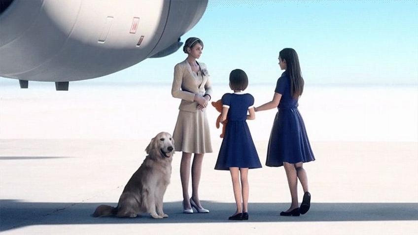 Авторы Ace Combat7 использовали в ролике JPEG-изображение собаки