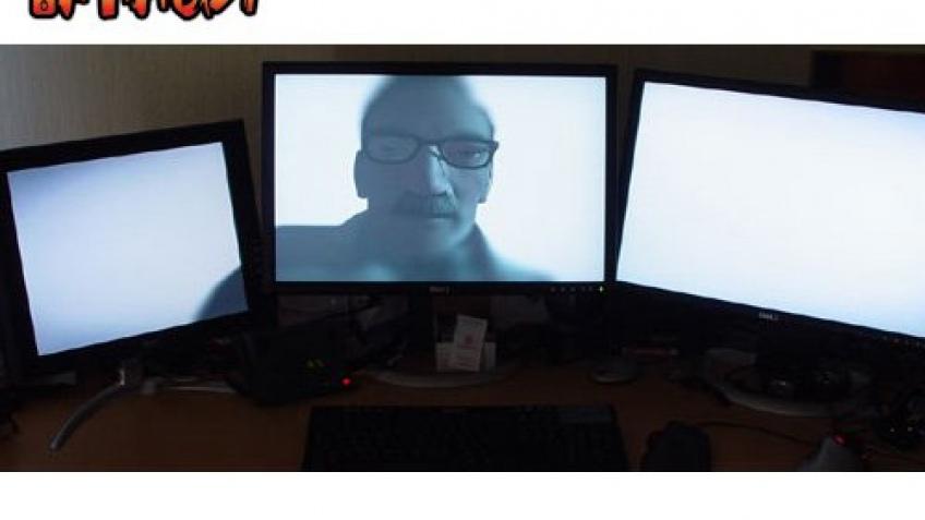 Matrox распределяет изображение по трем экранам