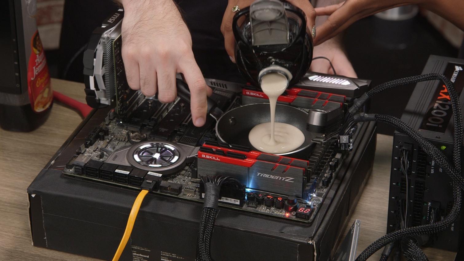 Процессоры Intel и AMD использовали для приготовления панкейков